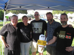 Dale T. Phillips, Stacy Longo, Vlad Vaslyn, Craig D. B. Patton, and fuzzy me at Middletown, CT Open Air Market.