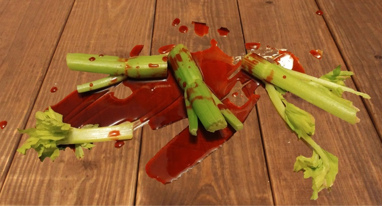 Celery and blood...blood and celery.